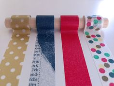 Spotty Dotty Washi Tape Set - A multi-color dotted pattern with coordinating colored tapes.