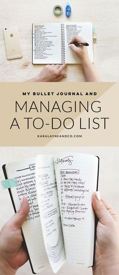 My bullet journal and managing a to-do list