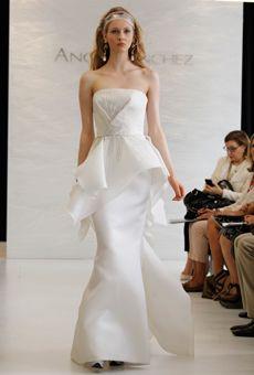 Angel Sanchez wedding gown (peplum gown)