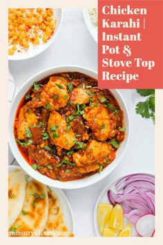 Chicken Karahi or Chicken Kadai is a spicy, homestyle chicken curry with fragrant spices and fresh ginger. #ministryofcurry #indiancuisine #curry Healthy Curry Recipe, Healthy Indian Recipes, Curry Recipes, Vegetarian Recipes, Ethnic Recipes, Instant Pot Curry Recipe, Instant Pot Dinner Recipes, Delicious Dinner Recipes, Chicken Karahi