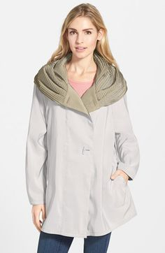 Mycra Pac Designer Wear 'Mini Donatella' Reversible Pleat Hood Packable Travel Coat | Nordstrom