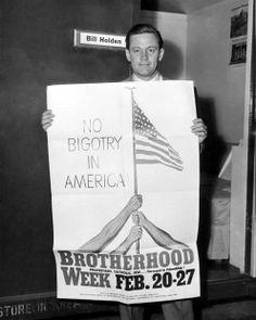 William Holden -  Brotherhood Week 1949