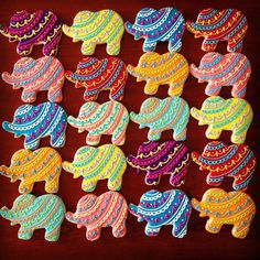 A personal favorite from my Etsy shop https://www.etsy.com/listing/254756204/bollywood-elephant-cookie-favors-1-dozen
