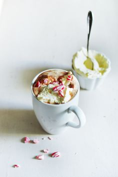 Hot chocolate with candy cane sprinkles