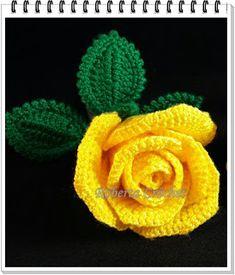 ✿.¸¸.✻Minhas Artes em Cr✿chê.¸¸. Roberta Crochet ✻.¸¸.✿:  ROSA DE CROCHÊ COM GRÁFICO                       ...