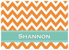 GREAT GIFT IDEA!  Geometric Collection: Chevron Personalized Note Cards. 5x7 or 4.25 x 5.5. Multiple colors available!  Great for college grads, teachers or bridesmaid gifts!