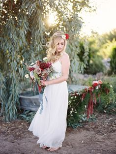 Red Wedding Inspiration by Brushfire Photography