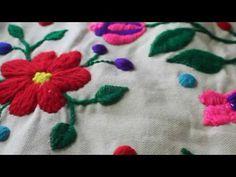 Bordando la primera flor de primavera - YouTube