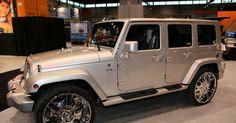 Custom 2011 Jeep Wrangler with Chrome Rims