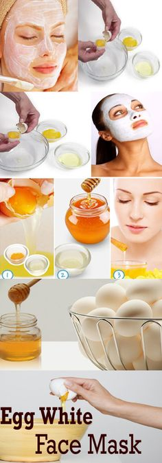 Egg White Face Mask - Whenever I make Eggs Benedict, I'll just use the whites for this so there's no waste.