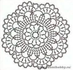 Motivi per uncinetto, small round crochet motif, doily or coaster