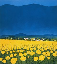Phil Greenwood is a landscape artist who creates wonderful etching prints. Discover Phil Greenwood's work online and in our Oxfordshire Art Gallery. Phil Greenwood was born in 1943 in Dolgellau, North Wales and now lives in Kent. Art And Illustration, Illustrations, Landscape Art, Landscape Paintings, Landscape Fabric, Guache, Art Inspo, Painting Inspiration, Concept Art