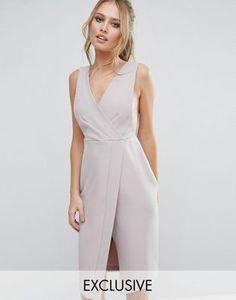 Платье миди с V-образным вырезом и запахом Closet