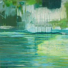 Abstract Weave Lori Ann Kenney (2013) Acrylic on Panel 30in × 30in × 1.5in Current Bid: $1350 #art #Vancouver #WestCoast  ARTBOMB: BUY WHAT YOU LOVE