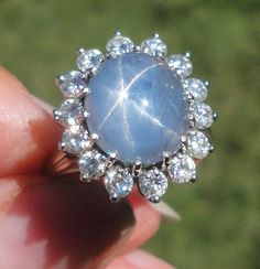 Perfect Engagement Ring, Engagement Rings, Blue Star Sapphire Ring, September Birthstone Rings, Right Hand Rings, Halo Diamond, White Gold Rings, Beautiful Rings, Ring Designs
