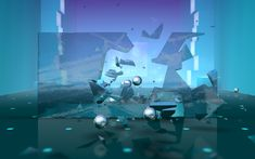 Smash Hit 3D VR is an exercise in precision and quick reflexes. In this game, you're rapidly carried down a track filled with glass obstacles, which you avoid by smashing them with metal balls. It sounds simple, and the geometric landscape does feel a little repetitive after a while. But constantly being on your toes in order to avoid crashing into the glass is engrossing.