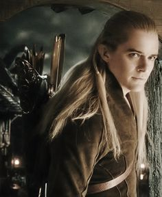 Legolas waiting for Galadwen,knowing he loves her.(Galadwen's his wife,but at that time,she was his girlfriend)