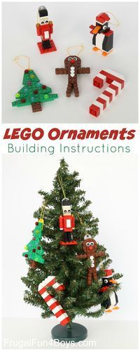 LEGO Christmas Ornaments to Make (With Building Instructions Five LEGO Christmas Ornaments to Make (With Parts Lists and Building Instructions!)Five LEGO Christmas Ornaments to Make (With Parts Lists and Building Instructions! Christmas Activities, Christmas Crafts For Kids, Christmas Projects, Christmas Fun, Holiday Crafts, Holiday Fun, Christmas Tables, Nordic Christmas, Modern Christmas
