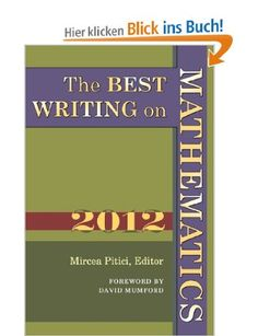 The Best Writing on Mathematics: Amazon.de: Mircea Pitici, David Mumford: Englische Bücher
