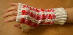 Here's the Scrap Heart Fingerless Gloves pattern I was working on. Hope you like it. Materials Worsted Weight Yarn in White , Pin...