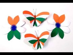 Independence Day Activities, Independence Day Decoration, Independence Day Special, India Independence, Bird Paper Craft, Paper Crafts Origami, Art N Craft, Diy Origami, Craft Activities For Kids