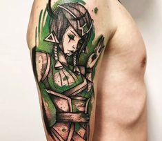 Perfect 2 colors cartoon tattoo style of Karma from the game League of Legends done by tattoo artist Gustavo Takazone Karma Tattoo, I Tattoo, Tattoos For Guys, Cool Tattoos, Tatoos, League Of Legends, Just Ink, Cartoon Tattoos, World Tattoo