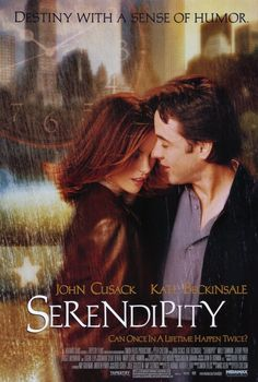 Serendipity:  Always loved John Cusack as the quirky love interests in the 90's.  Great supporting cast of Kate Beckinsale and Jeremy Piven