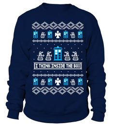 Doctor Who - I Think Inside The Box   => Check out this shirt by clicking the image, have fun :) Please tag, repin & share with your friends who would love it. Christmas shirt, Christmas gift, christmas vacation shirt, dad gifts for christmas, mom gifts for christmas, funny christmas shirts, christmas gift ideas, christmas gifts for men, kids, women, xmas t shirts, Ugly Christmas Sweater Shirt #Christmas #hoodie #ideas #image #photo #shirt #tshirt #sweatshirt #tee #gift #perfectgift…