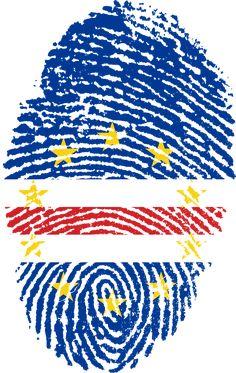 Travel, Cabo Verde Flag Fingerprint Country Pride #travel, #cabo, #verde, #flag, #fingerprint, #country, #pride