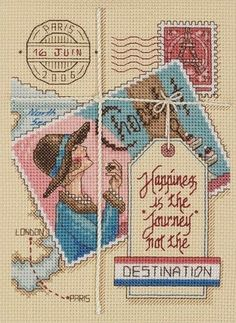Janlynn - Vintage Postcard Pair Counted Cross Stitch Kit # 023-0461