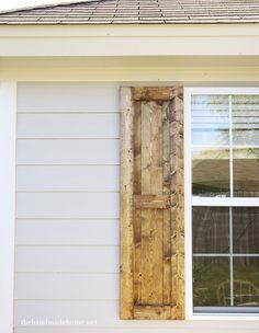 diy shutters