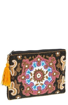 Berry Beaded Mandala Clutch available at #Nordstrom
