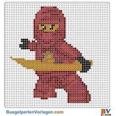 Ninjago Bügelperlen Vorlage. Auf buegelperlenvorlagen.com kannst du eine große Auswahl an Bügelperlen Vorlagen in PDF Format kostenlos herunterladen und ausdrucken.