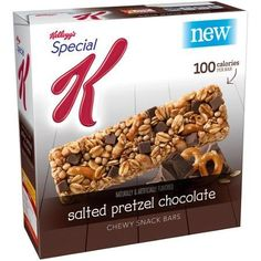 Kelloggs Special K 100 Calorie Chewy Snack Bars 6 Count 088oz 58oz Box Pack of 4 Choose Flavors Below Salted Pretzel Chocolate >>> Want additional info? Click on the image.