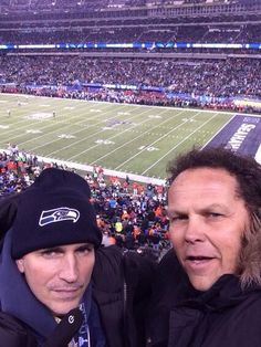 Embedded image permalink Jim Caviezel and Kevin Chapman at the Superbowl 2014, in NYC, or NJ.