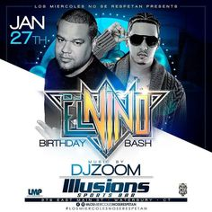 Tonight @djelninolmp birthday party part 1 in @losmiercolesnoserespetan in @illusionssportsbar with Music By @djzoomnyc.  Free Fun and entertainment  Free Admission/No Cover Bottles start at $70   Hookahs start at $15 Free Sex On The Beach and Margaritas before 11pm   For reservations dm @Marleny_1128  #LosMiercolesNoSeRespetan #RespectTheHashTag #LoMaximoParties #dilenoalcubetazo #BottleCulture #promoterswelcomed #bartenderswelcomed #DjsWelcomed #IllusionsSportsBar #cthookah #NightLife…