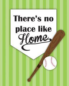 8x10 Baseball Print Boy's room illustration INSTANT DOWNLAOAD!