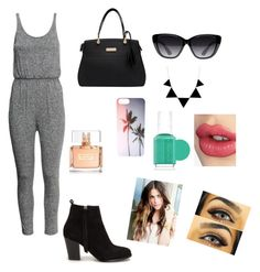 """romoer!"" by lhe02 ❤ liked on Polyvore featuring H&M, Nly Shoes, Elizabeth and James, Charlotte Tilbury, Essie and Givenchy"
