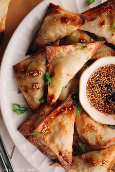 Air Fried Pork Wontons - Living The Gourmet