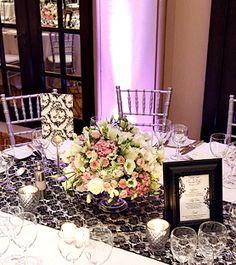 Love the flower arrangement Wedding Centerpieces, Centerpiece Ideas, Table Decorations, Black Lace Table, Got Married, Getting Married, Lace Table Runners, Glam Room, Amazing Decor