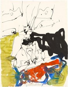 Baselitz / Untitled, 2013, Pen and ink, watercolor and ink on paper, 26 x 20 3/16 inches / 66.1 x 51.2 cm (unframed) © Georg Baselitz.