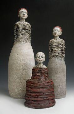 Elissa Farrow Savos - hope, against all reason Pottery Sculpture, Sculpture Clay, Ceramic Pottery, Ceramic Art, Ceramic Sculpture Figurative, Pottery Handbuilding, Ceramic Angels, Sculptures Céramiques, Ceramic Techniques