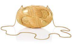 Lanvin Minaudière en métal doré