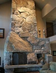 More Cowboy Country Stone Fireplaces .The Old West Was Never This Luxurious! Rustic Home Design, Modern Bedroom Design, Rustic Homes, Custom Fireplace, Fireplace Design, Cozy Fireplace, River Rock Fireplaces, Stone Fireplaces, Pizza Oven Fireplace