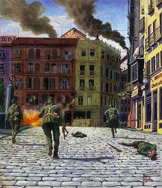 """Fighting on the Zocodover Square. Toledo during the Civil War. September, 1936"", Dariusz Bufnal"