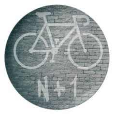 Bike Graffiti Dinner Plate - home gifts ideas decor special unique custom individual customized individualized Custom Plates, Decorative Plates, Graffiti, Cycling For Beginners, Bicycle Maintenance, Cool Bike Accessories, Decoration, Home Gifts, Dinner Plates