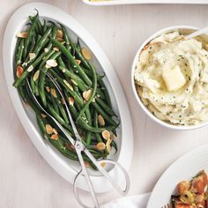 One of the easiest, most flavourful sides is a simple plate of tender-crisp brown butter green beans, topped with toasted almonds.