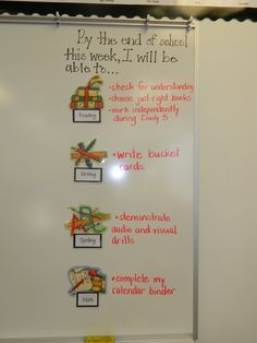 weekly learning objectives. I like this weekly idea for band.