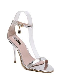 SHARE & Get it FREE | Pendant Ankle Strap Stiletto Heel SandalsFor Fashion Lovers only:80,000+ Items • New Arrivals Daily Join Zaful: Get YOUR $50 NOW!