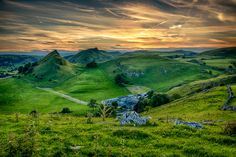 The area around Parkhouse Hill and Chrome Hill is one of my favourites in the Peak District with its impressive shaped peaks, secluded valleys teaming with wildlife Pictures Of The Week, Peak District, Middle Earth, Landscape Photography, Wildlife, Chrome, Sunset, Wall Art, Prints